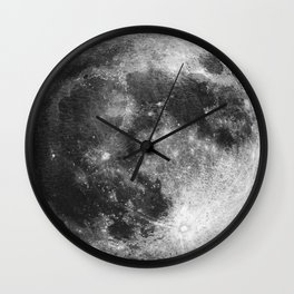 Full Moon Watercolour Art | Minimalism Wall Clock