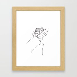 Cat - Stare Framed Art Print