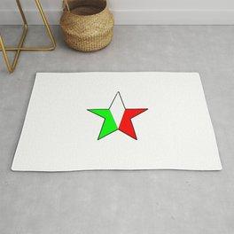flag of Italia star - Italy,Italia,Italian,Latine,Roma,venezia,venice,mediterreanean,Genoa,firenze Rug