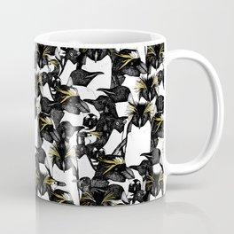 just penguins black white yellow Coffee Mug