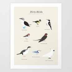 Dirty Birds Art Print