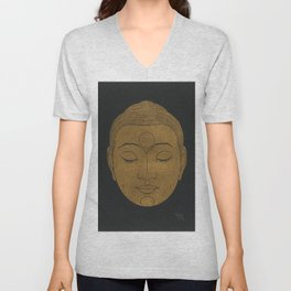 Buddha Head by Reijer Stolk Unisex V-Neck