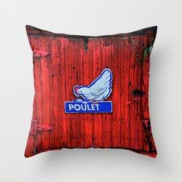 """""""Poulet"""" Barn Door Throw Pillow"""