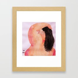 Over My Shoulder Framed Art Print