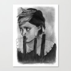 SACRED FLAMES Canvas Print