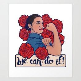 Alexandria Ocasio-Cortez AOC Art Print