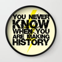 history Wall Clocks featuring HISTORY by Silvio Ledbetter