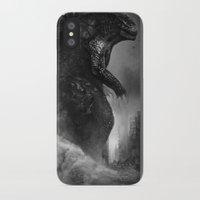 godzilla iPhone & iPod Cases featuring Godzilla by ffejeromdiks