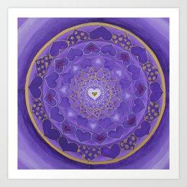 Divine Love Mandala Art Print