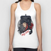 bad wolf Tank Tops featuring Bad Wolf by zerobriant