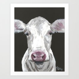 Cow art 'Mable' for your Farmhouse Chic Decor Art Print