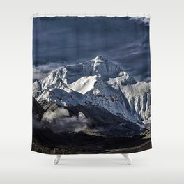 Mount Everest from the north side view in China Shower Curtain