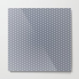 White dots on grey background Metal Print