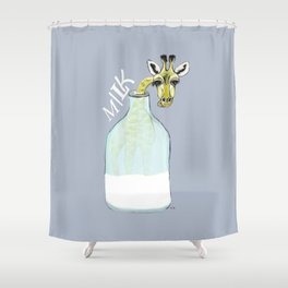 giraf milk Shower Curtain