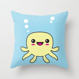 Kawaii Octopus Throw Pillow
