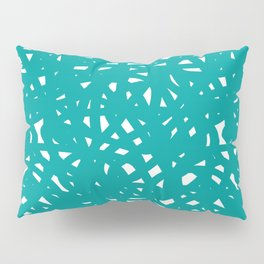 Teal Freeform Pillow Sham