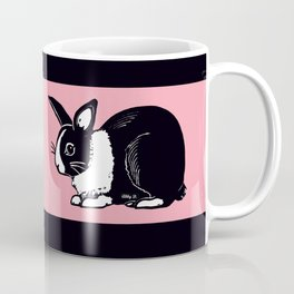 Black & White Dutch Rabbit Coffee Mug