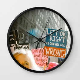Left/Right/Wrong Wall Clock