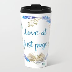 Love at first page Metal Travel Mug