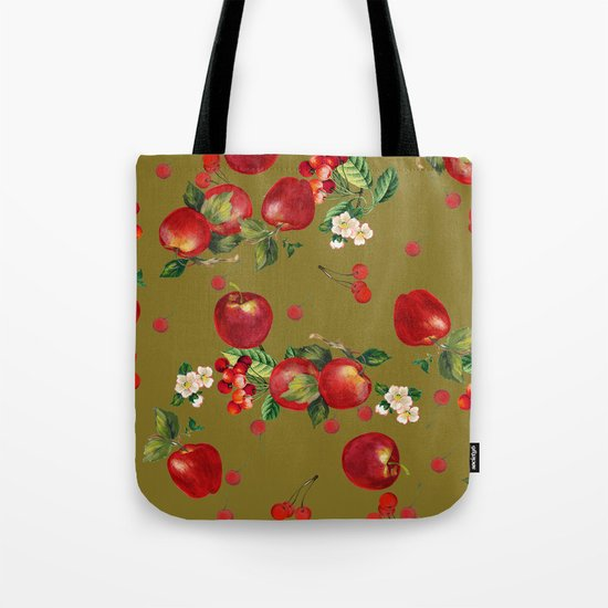 cherries and apples 3 Tote Bag
