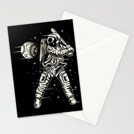 Space Baseball Astronaut Stationery Cards