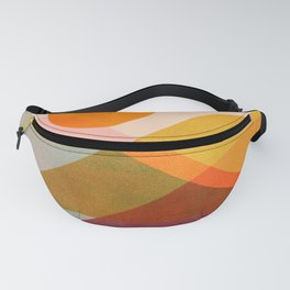 Abstraction_SUNSET_LANDSCAPE_POP_ART_Minimalism_018X Fanny Pack