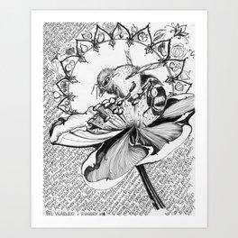 Bee Warned - Inktober #4 Art Print