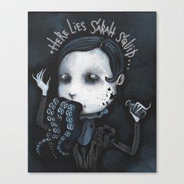 Sarah Squid - Spleen Sister by Macabre Canvas Print