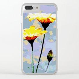 Daisys & blue sky Clear iPhone Case