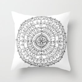 Spindle Wheel Throw Pillow
