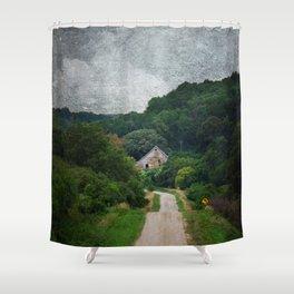 Peekaboo Barn Shower Curtain