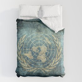United Nations Flag - Vintage version Comforters