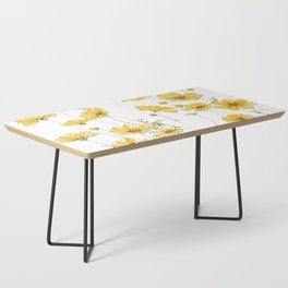 Yellow Cosmos Flowers Coffee Table