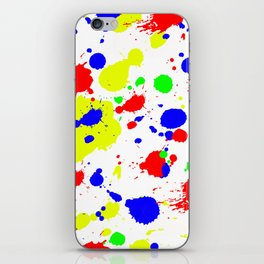 Colorful Paint Splatter. iPhone Skin