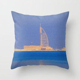 Burj AL Arab Architecture Art Throw Pillow