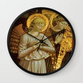 1459 Benozzo Gozoli - Angels (detail) Wall Clock