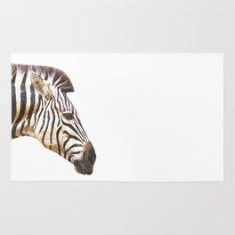 Zebra portrait Rug