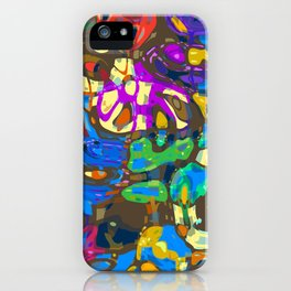 Abstract Mash Up iPhone Case