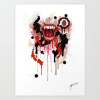 vampire Art Prints featuring Vampire by Daniel Savoie