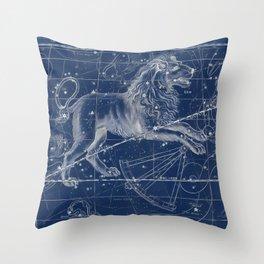 Leo sky star map Throw Pillow