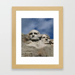 George Washington And Thomas Jefferson  - Mount Rushmore Framed Art Print