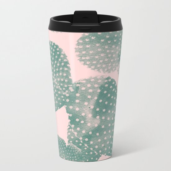 Cacti pink Metal Travel Mug