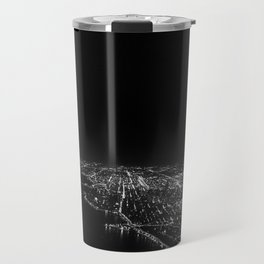 Chicago Skyline. Airplane. View From Plane. Chicago Nighttime. City Skyline. Jodilynpaintings Travel Mug