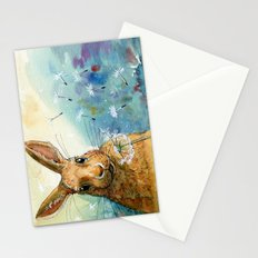 Funny rabbits - With Dandelions 548 Stationery Cards