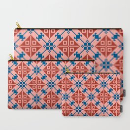 Folk Pattern Carry-All Pouch