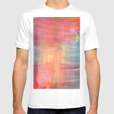 Sunset Background MEDIUM White Mens Fitted Tee