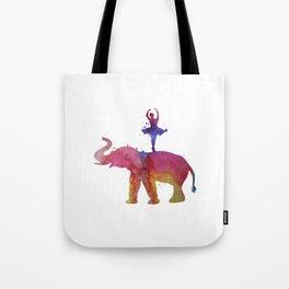 Elephant and ballerina Tote Bag