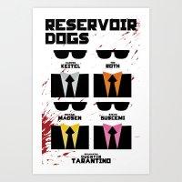 reservoir dogs Art Prints featuring Reservoir Dogs by Jacob Slavik