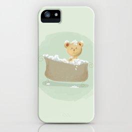 Teddy Bear in Bathtub  iPhone Case