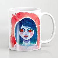 creepy Mugs featuring Creepy by Alex Dehoff